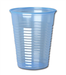 Water Cups Plastic Non Vending for Cold Drinks 7oz 200ml Blue [Pack 1000]