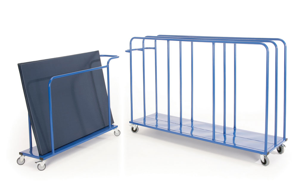 Senior Vertical Mat Trolley - 1870L x 550D x 1050H - Capacity 10-12 Mats (Mats up to 2m x 1m)