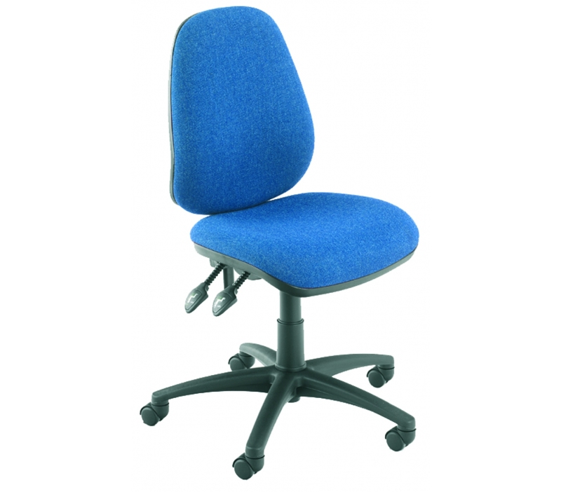 Vantage 100mm 2 Lever Pcb Operators Chair With No Arms Blue
