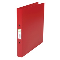 RING BINDER 2-RING PVC A4 RED - ORDER 10 OR MORE FOR BULK DISCOUNT!!