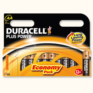 DURACELL BATTERIES - AA (pk 12)