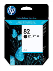 Hewlett Packard [HP] No. 82 Inkjet Cartridge 69ml Black Ref CH565A