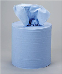 5 Star Centrefeed Tissue Refill for Dispenser Blue Two-ply 150m [Pack 6]