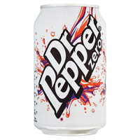 Dr Pepper Zero 330ml Cans Pk24 0402053