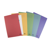Elba Square Cut Folder Foolscap Assorted  100090142