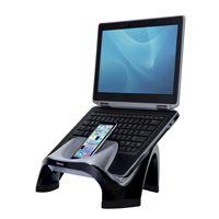 Fellowes Smart Suites Laptop Riser With 4-Port USB 2.0 Black/Clear 8020201