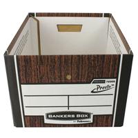 Fellowes Bankers Box Premium Presto Classic Storage Box Woodgrain 7250101