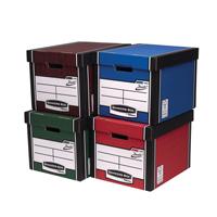 Fellowes Bankers Box Premium Presto Storage Box Woodgrain 00725-FFLP
