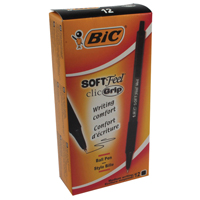 Bic Soft Feel Retractable Ball Point Pen Black 837397