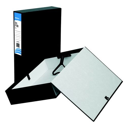 Initiative Lockspring Box File A4/Foolscap 70mm Capacity Black