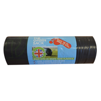 The Green Sack Medium Duty Refuse Sacks on a Roll Black Pack of 15 GR0771