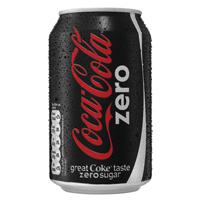 Coke Zero Soft Drink 330ml Can   402003
