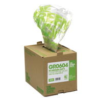 The Green Sack Clear Refuse Bag in Dispenser (Pack of 75) GR0604