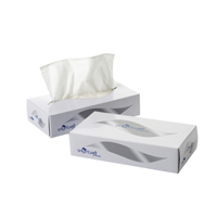 Facial Tissue 100 Sheet Cream Box (Pack of 36) KMAX10011