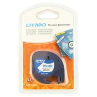 Dymo Letratag Plastic Tape 12mm x4m Pearl White S0721610