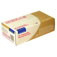 Shield Polypropylene Vinyl Gloves Blue Medium Pk 100 Gd11