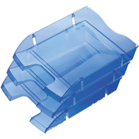 Helit PET Recycled Letter Tray Blue H2363530. Compatible with standard letter trays.
