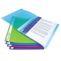 Rapesco A4 Flexi Display Book 10 Pocket Bright Assorted   915