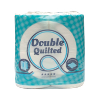 Luxury White 2-Ply Quilted Toilet Roll 10 Packs of 4 DQ4Pk