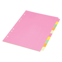 Concord Fluorescent Divider A4 10-Part Assorted 89199