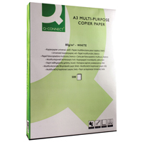 Q-Connect Copier Paper A3 80gsm White Ream KF01089