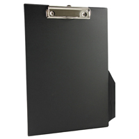 Q-Connect PVC Clipboard A4/Foolscap Black KF01296
