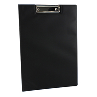 Q-Connect PVC Foldover Clipboard Foolscap/A4 Black KF01300