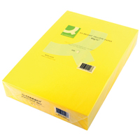 Q-Connect Coloured Copier Paper A4 80gsm Bright Yellow Ream