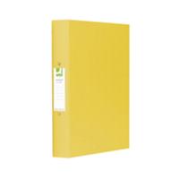 Q-Connect 2-Ring Binder A4 25mm Polypropylene Yellow KF01472