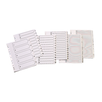 Q-Connect Index A4 Multi-Punched 1-5 Reinforced White Board Clear Tabbed KF01527