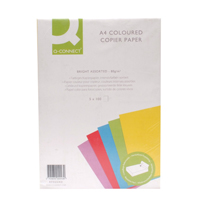 Q-Connect Coloured Copier Paper A4 80gsm Bright Assorted Ream