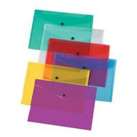 Q-Connect Document Folder Polypropylene A4 Assorted    KF03599