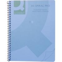 Q-Connect Poly Spiral A5 Book Trans Blue