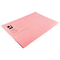Q-Connect Square Cut Folder Light-Weight 180gsm Foolscap Pink    KF26029