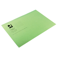 Q-Connect Square Cut Folder Light-Weight 180gsm Foolscap Green    KF26031