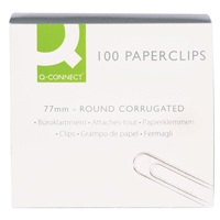 Q-Connect Paperclip 77mm Wavy KF27004