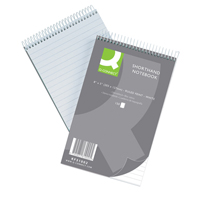 Q-Connect Shorthand Notebook Feint Ruled 203 x 127mm 300 Pages 31002