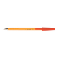 Q-Connect Ball Point Pen Fine Red Pk 20 KF34048