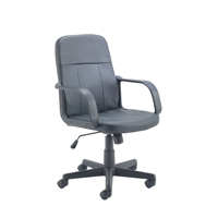Jemini Trent Leather Look Chair Black KF73635