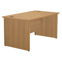Jemini 1200mm Panel End Rectangular Desk Beech KF838084