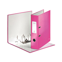 Leitz 180 WOW Lever Arch File A4 80mm Metallic Pink 10050023