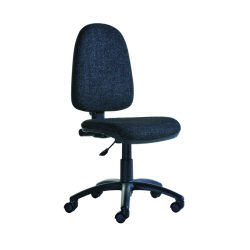 Office Style Bilbao Fabric Operator Chair No Arms Black BILB1-C