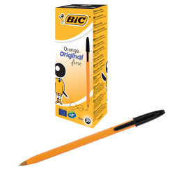 BIC Orange Ball Pen Fine Black 101144