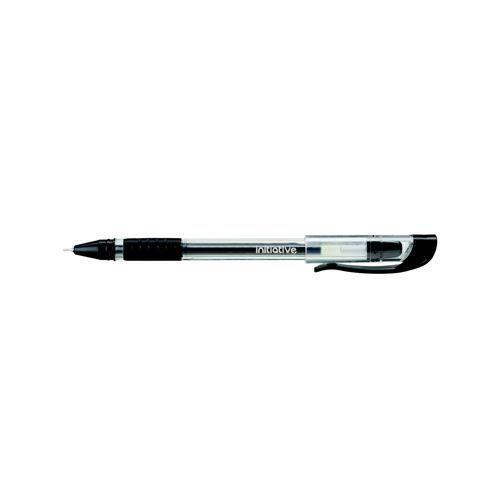 Initiative Cushioned Grip Gel Ink Rollerball Pen 0.5mm Line Width 0.7mm Nib Black