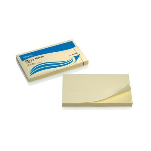 """Initiative Sticky Notes 76x127mm (5"""" x 3"""") Yellow"""