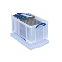 Really Useful Clear 48L Plastic Storage Box 600x400x310mm    48C
