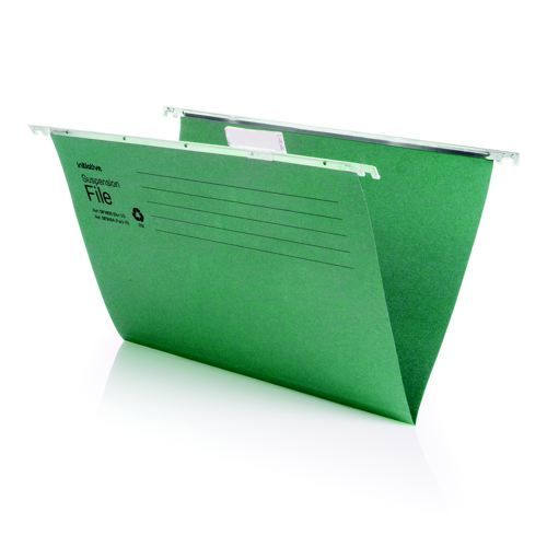 Initiative Suspension File With Tabs and Inserts A4 215gsm 85% Recycled Pack 50