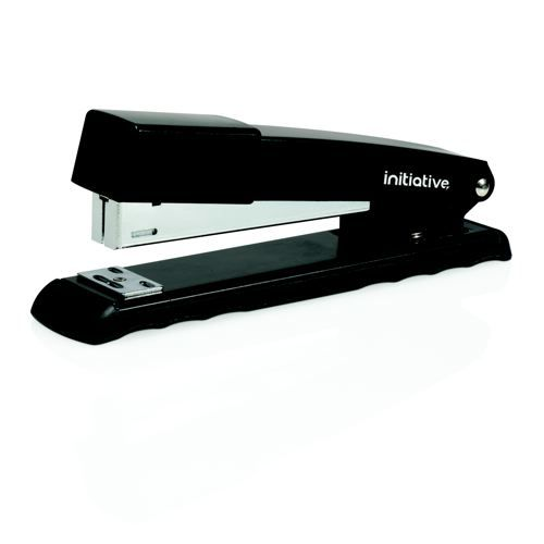 Initiative Metal Full Strip Stapler 22 Sheet Capacity Black