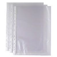 Whitebox A4 Punched Pocket Clear 35 micron 270486 WX24001 (Pack of 100)
