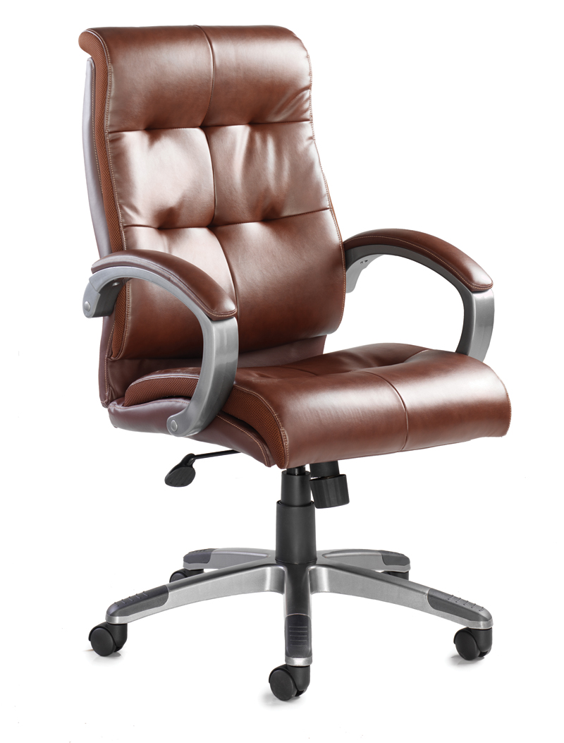Cantania managers chair in brown leather